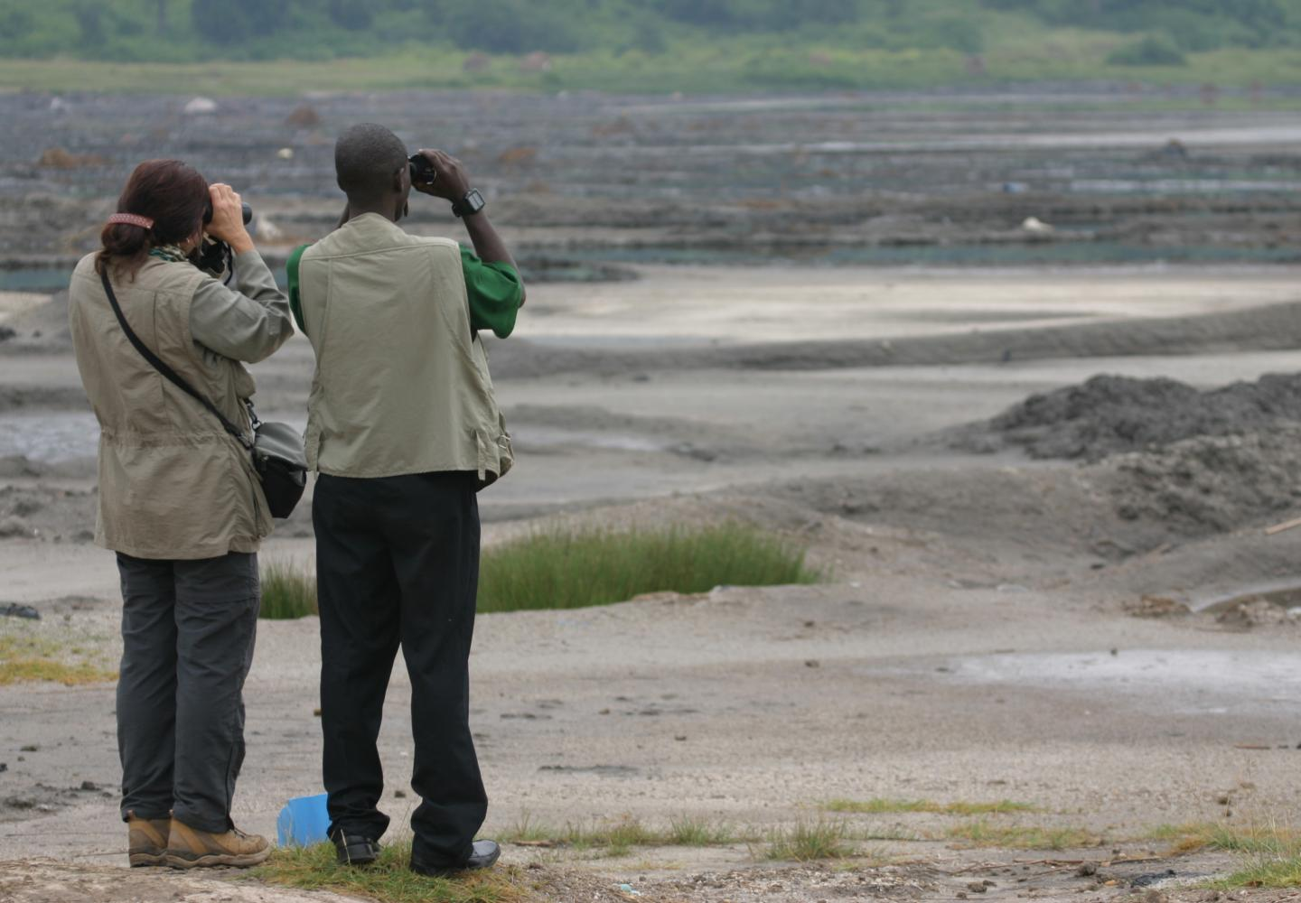 Birdwatching on the Salt Works (Queen Elizabeth NP, Uganda) ya, Uganda