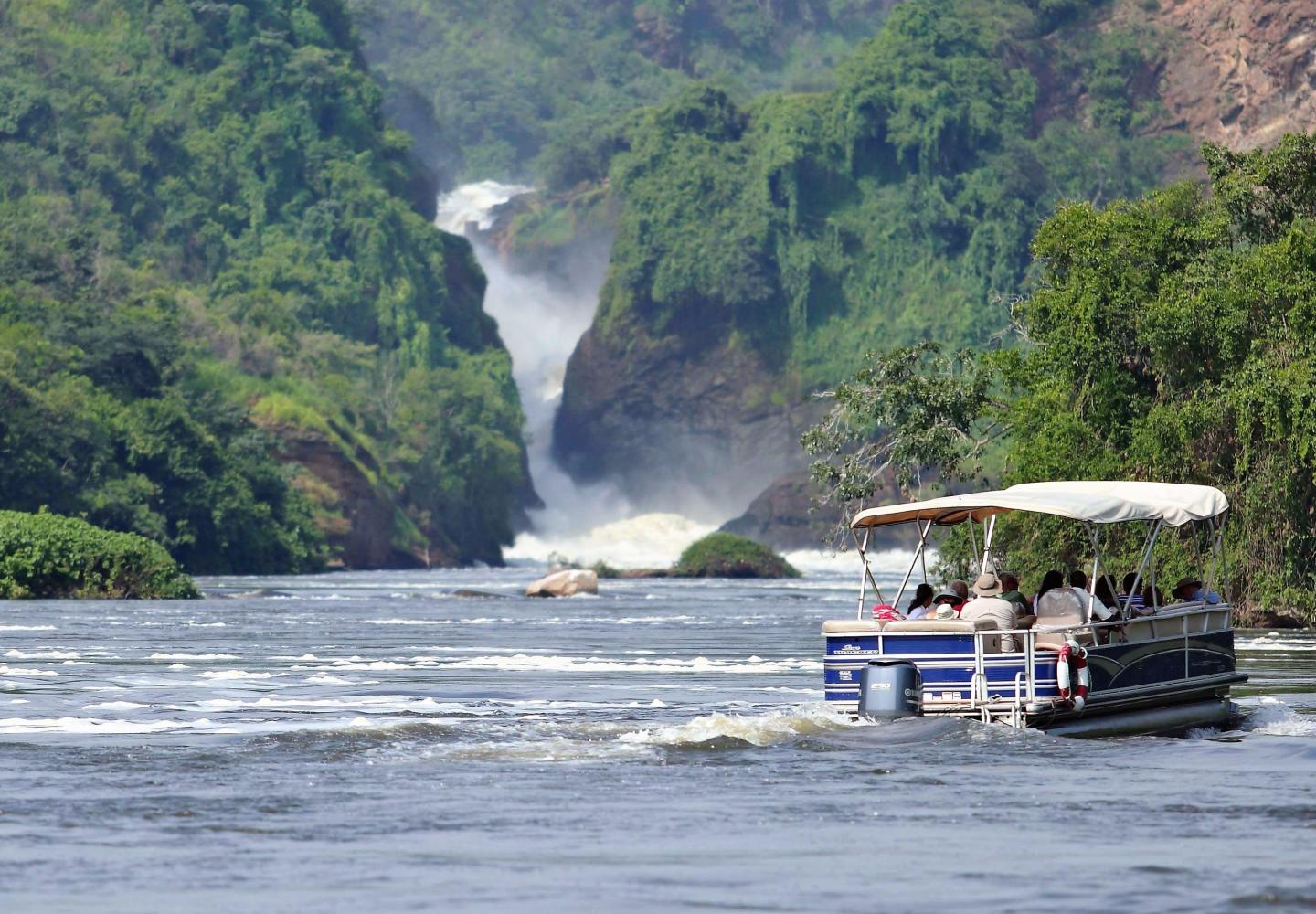 Boat trip on the Nile River up to Murchison Falls