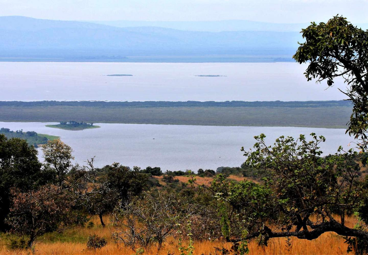View on Akagera Lakes from Mutumba Heights (Akagera National Park Rwanda)