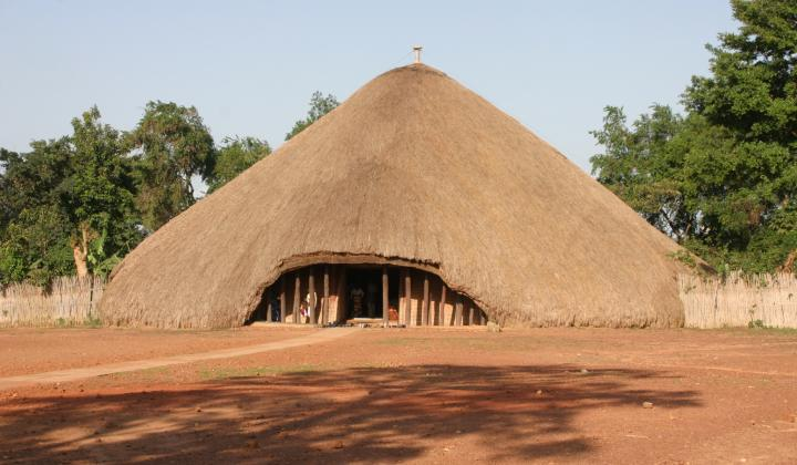 Outside of Kasubi Tombs Kampala (Uganda)